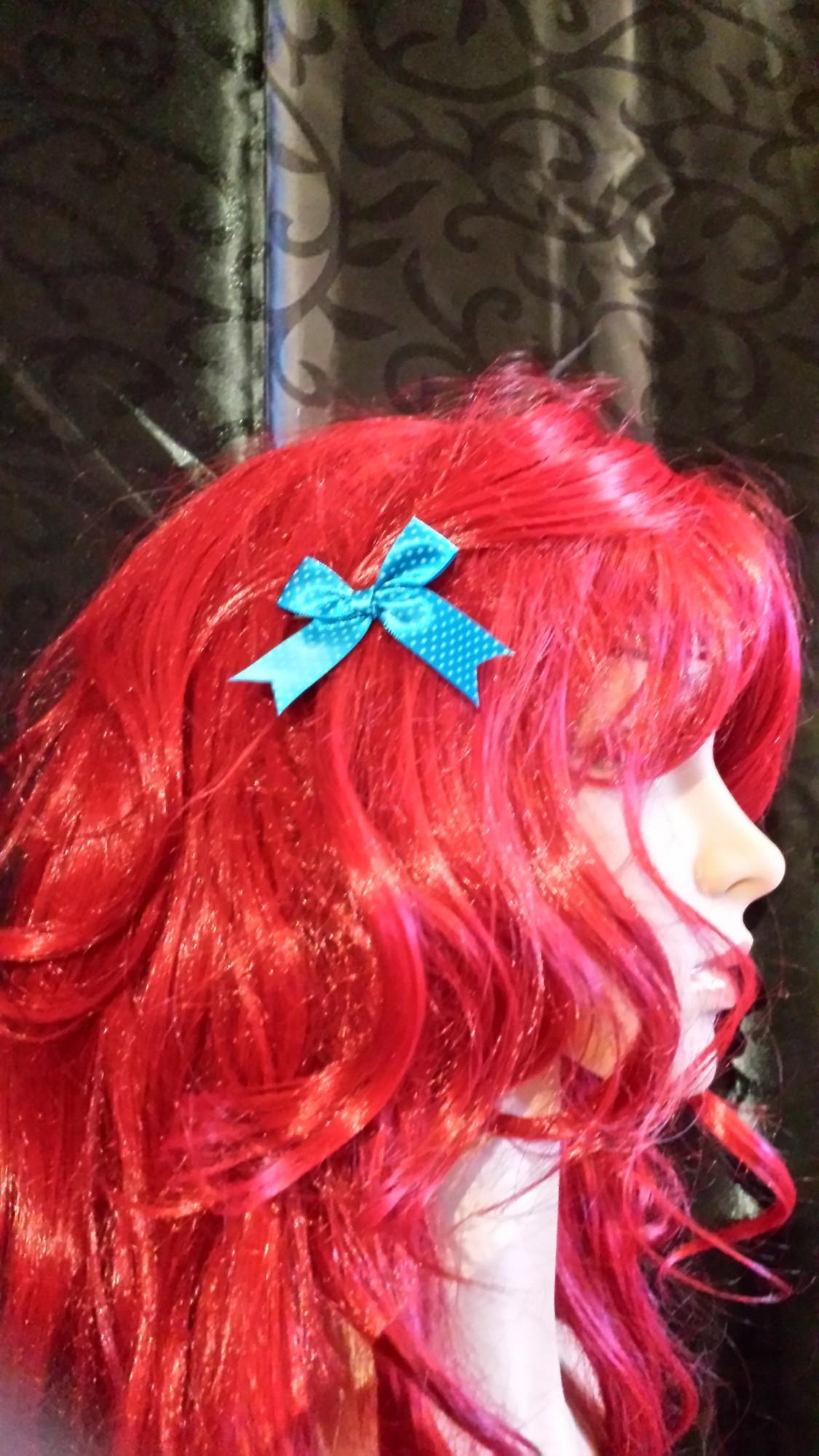 Haarklemme Schleife türkis
